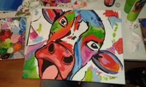 Schilderij koe 2